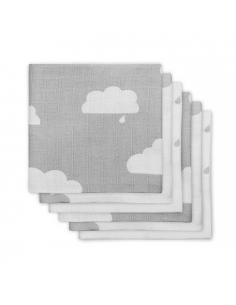 Jollein Hydrofilní plena Clouds grey, 6 ks