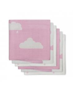 Jollein Hydrofilní plena Clouds pink, 6 ks