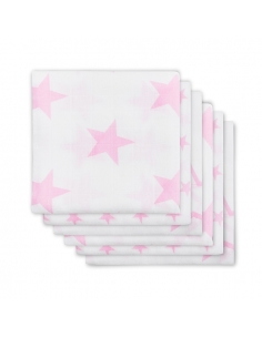 Jollein Hydrofilní plena Little star pink, 6 ks