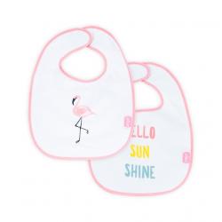 Jollein Bryndák nepromokavý Flamingo, 2ks