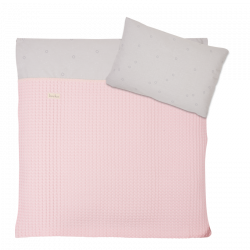 Koeka Duvet cover Love me sweet, old baby pink