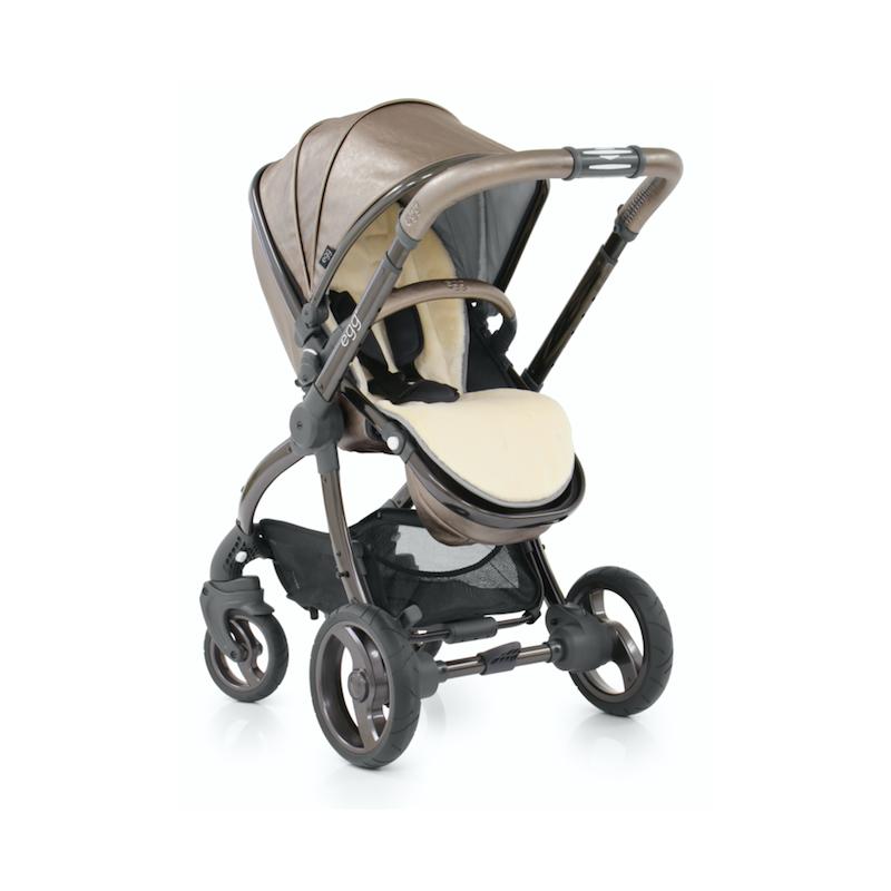 BabyStyle EGG kočárek + taška + podložka TITANIUM/Black rám 2019