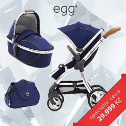 BabyStyle EGG kočárek REGAL NAVY/MIRROR rám 2017