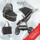 BabyStyle EGG kočárek SHADOW BLACK/ BLACK rám 2018