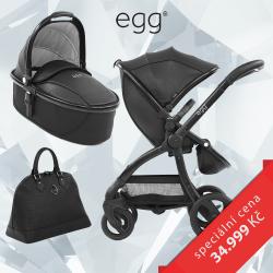 BabyStyle EGG kočárek JURASSIC BLACK/BLACK rám 2017