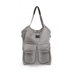 7AM Enfant Barcelona bag, Heather Grey