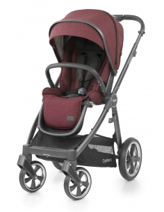 OYSTER 3 stroller with rain cover - BERRY (CITY GREY rám) 2019