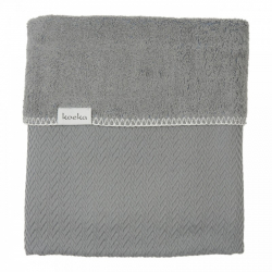 Koeka Bassinet blanket Stockholm 75x100, steel grey
