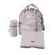 BabaBing Mani přebalovací taška/ batoh, Grey Blush Leatherette
