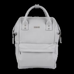BabaBing Mani backpack changing bag, Dove Grey Leatherette
