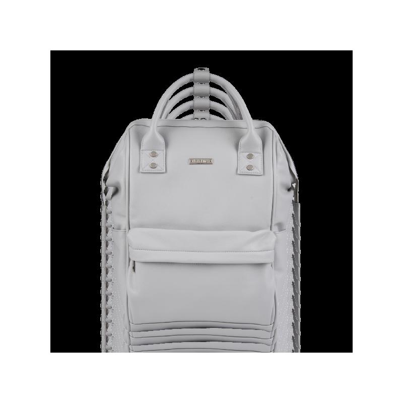 BabaBing Mani přebalovací taška/ batoh, Dove Grey Leatherette