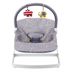 BabaBing Float Baby Bouncer, Grey