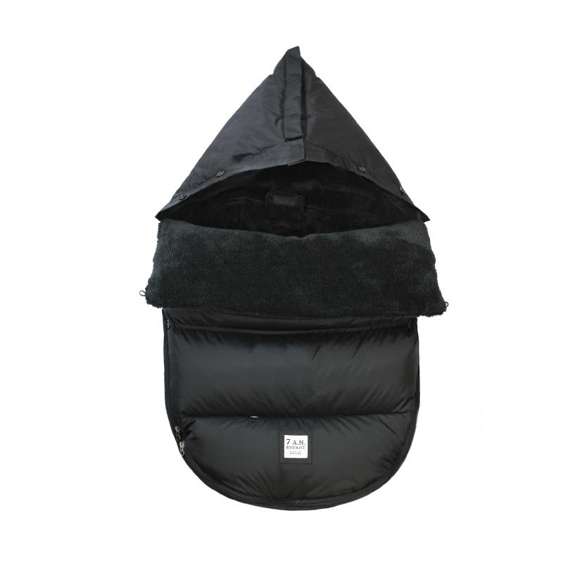 7AM Enfant PlushPOD fusak Black Plush - NEW