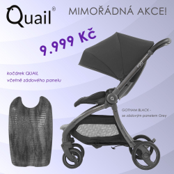 Quail stroller by EGG -  GOTHAM BLACK - 2018