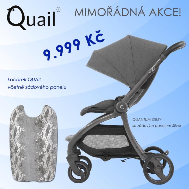 BabyStyle kočárek EGG Quail Quantum Grey / Silver 2019