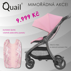 Quail kočárek od EGG - STRICTLY PINK - 2018