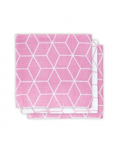 Jollein Hydrofilní ručník Graphic mauve, 3 ks