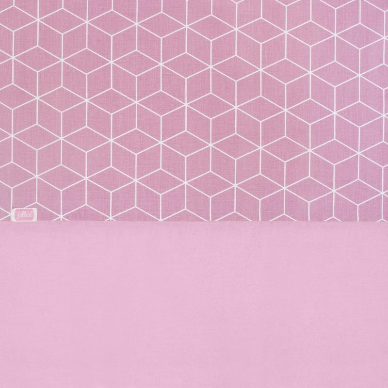 Jollein Prostěradlo 120x150, Graphic mauve