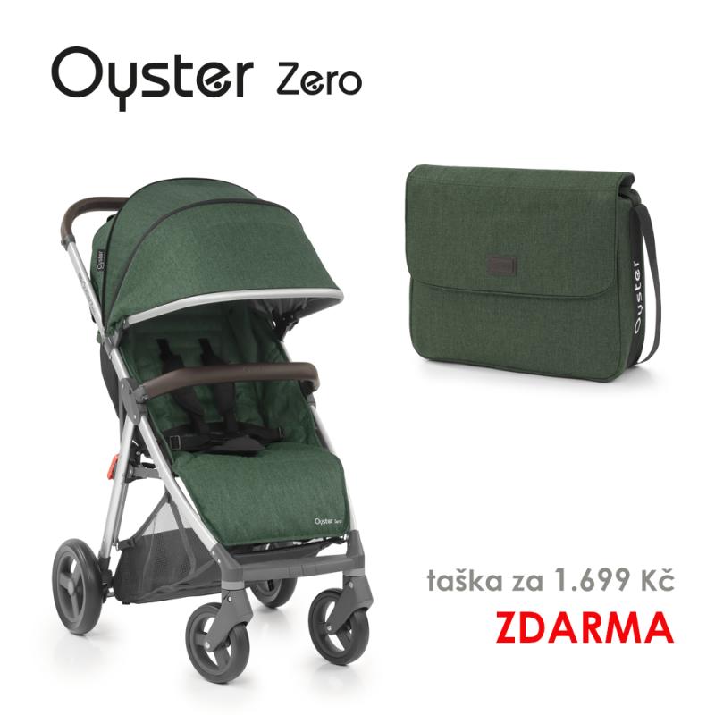 BabyStyle Oyster Zero kočárek Alpine Green 2019 + taška ZDARMA
