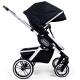 Kombinovaný kočárek Teutonia TRIO Silver /Melange Black 2020
