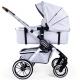 Kombinovaný kočárek Teutonia TRIO Silver /Melange Light 2020