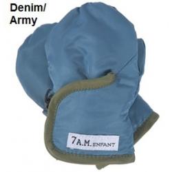 7AM Enfant Classic rukavice, Denim/Army