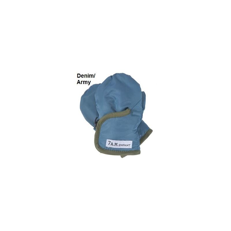 7AM Enfant Classic rukavice, Denim/Army,  XXL