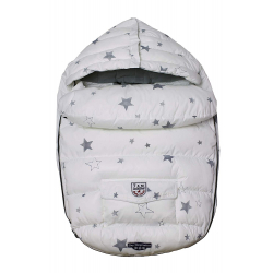 7AM Enfant Baby Shield fusak S, Print White Stars