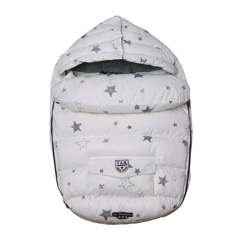 7AM Enfant Baby Shield fusak S, Print White Stars