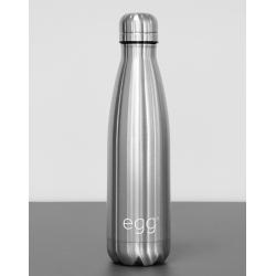 BabyStyle EGG stroller bottle, brushed steel