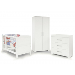 BabyStyle Monte Carlo detská izba (set: postieľka, komoda, skriňa)