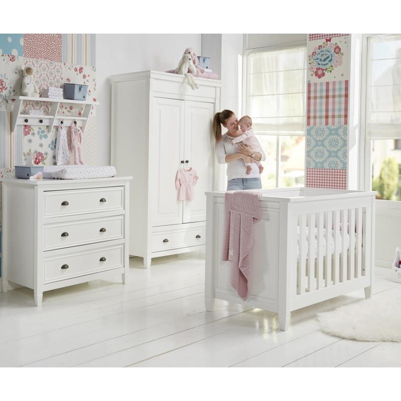 BabyStyle Marbella dětský pokoj (set: postýlka, komoda, skříň, police)