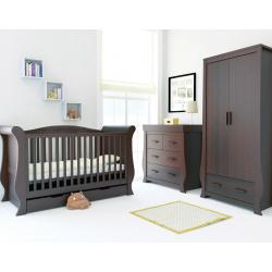 BabyStyle Hollie child room, Rich Walnut (set: cot bed, dresser, wardrobe)
