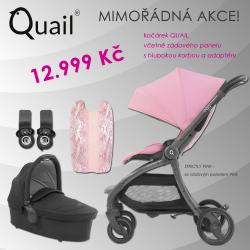 BabyStyle Egg Quail 2019 kočárek + korba + adaptéry, Strictly Pink/ Pink
