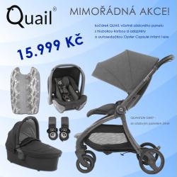 BabyStyle Egg Quail 2019 kočárek + korba + adaptéry + autosedačka, Quantum Grey/ Silver