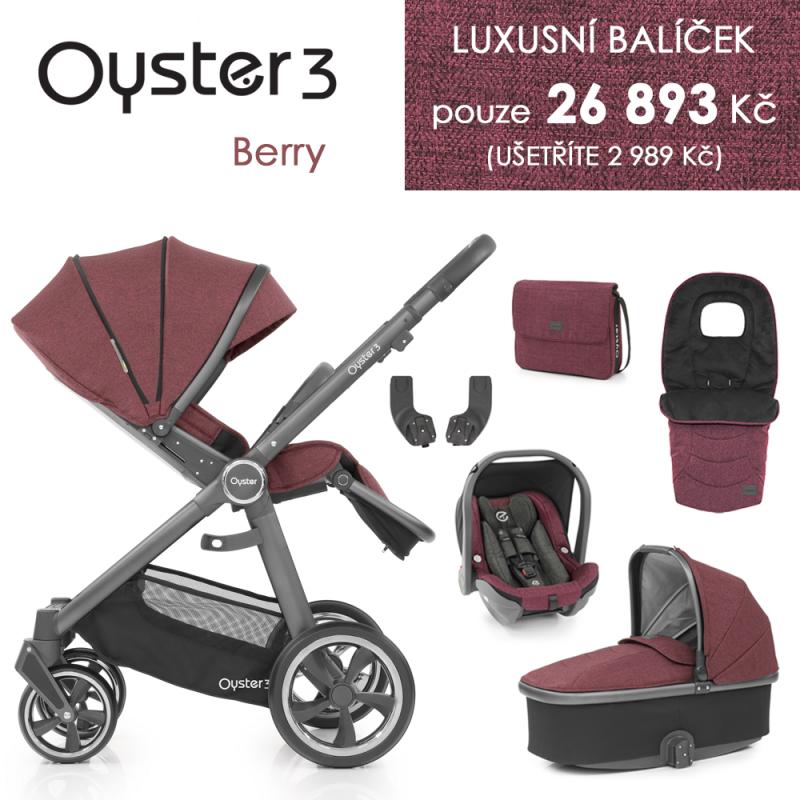 BabyStyle Oyster 3 luxusní set 6 v 1 - Berry 2021