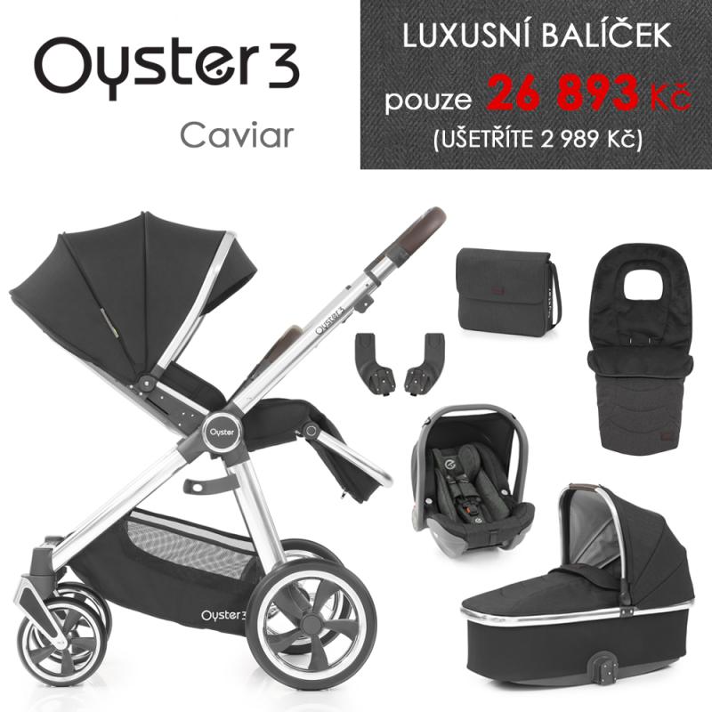BabyStyle Oyster 3 luxusní set 6 v 1 - Caviar 2021
