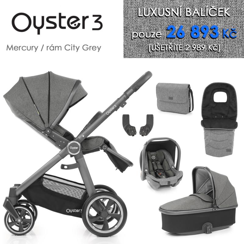 BabyStyle Oyster 3 luxusní set 6 v 1 - Mercury / City Grey 2021