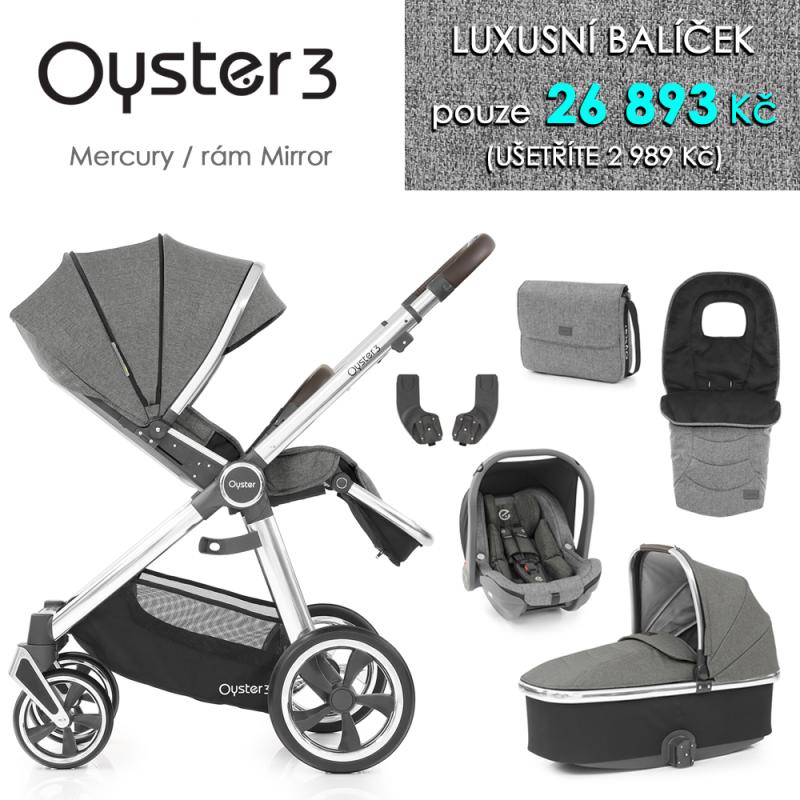 BabyStyle Oyster 3 luxusní set 6 v 1 - Mercury / Mirror 2021