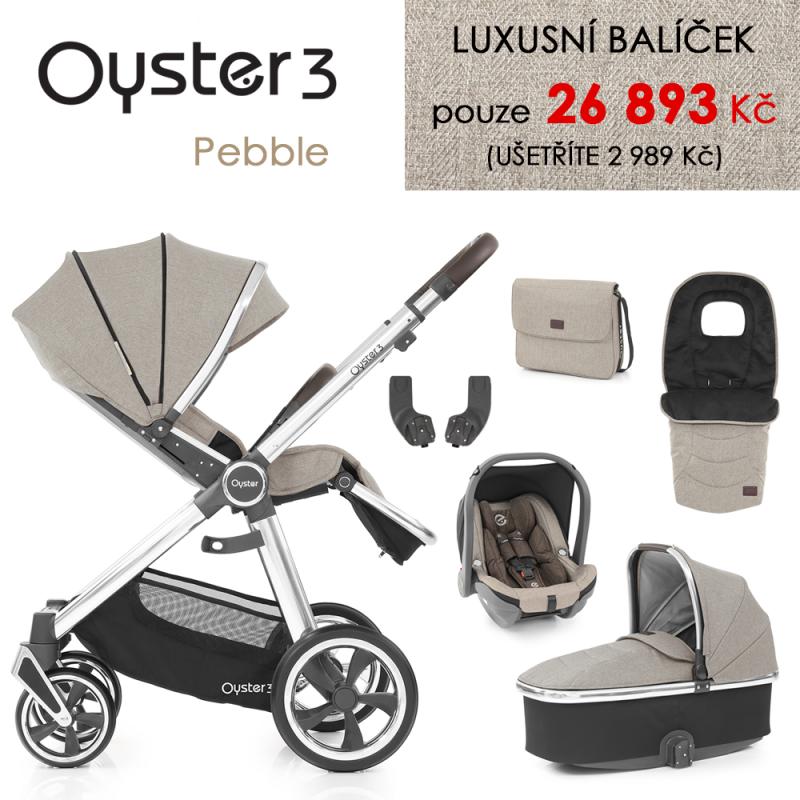 BabyStyle Oyster 3 luxusní set 6 v 1 - Pebble 2021