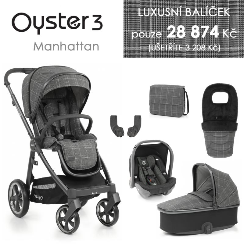 BabyStyle Oyster 3 luxusní set 6 v 1 - Manhattan 2021