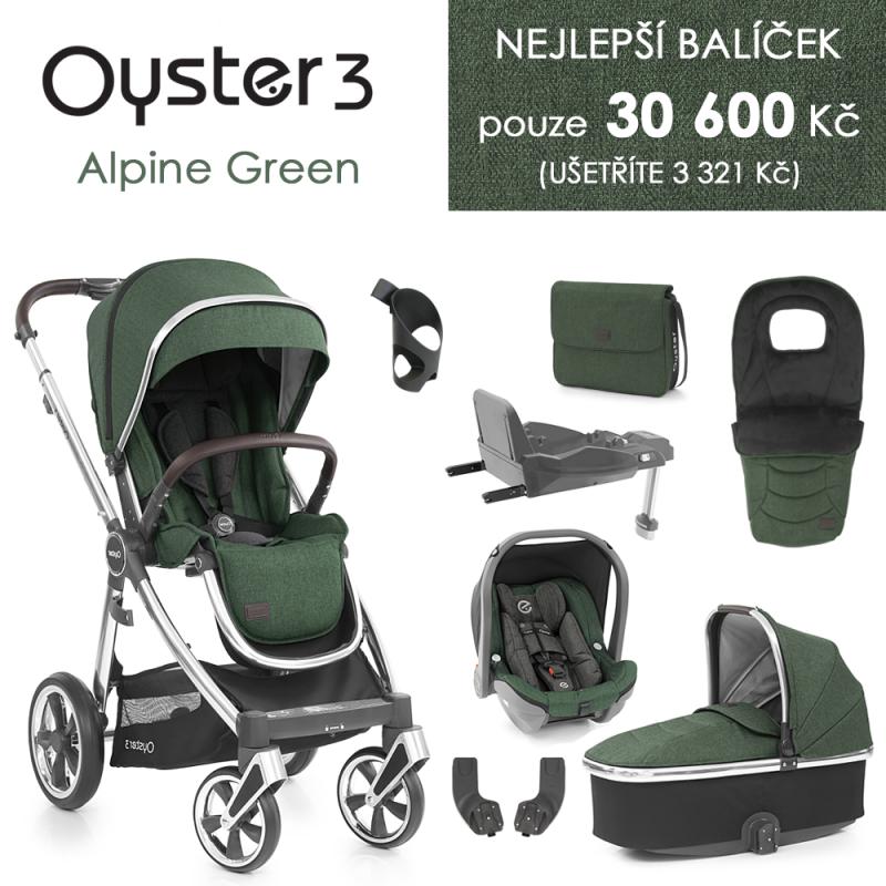 BabyStyle Oyster 3 nejlepší set 8 v 1 - Alpine Green 2021