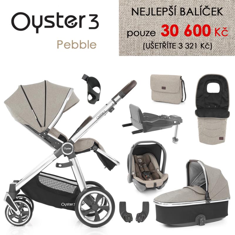 BabyStyle Oyster 3 nejlepší set 8 v 1 - Pebble 2021