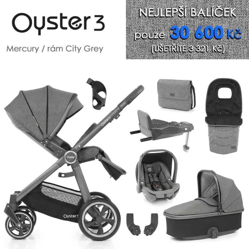 BabyStyle Oyster 3 nejlepší set 8 v 1 - Mercury / City Grey 2021