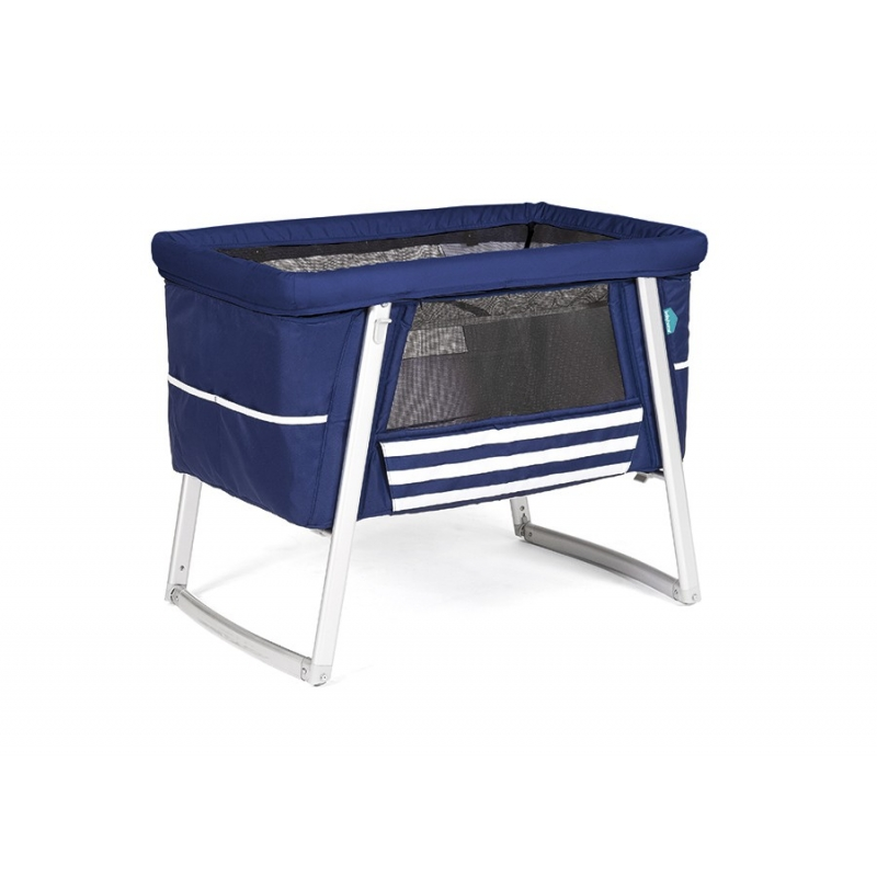 Babyhome AIR postýlka, Navy / White (Sailor)